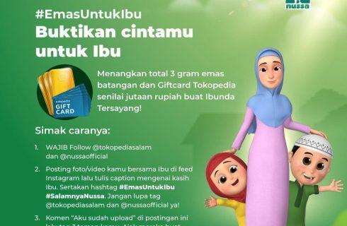 Foto Bersama Ibu- Tokopediasalam Berhadiah Logam Mulia