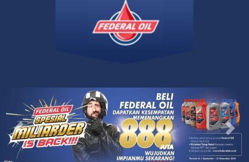 Federal Oil Berhadiah Uang Tunai Miliaran Rupiah
