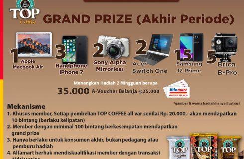 Top Coffee Berhadiah  Apple Macbook Air